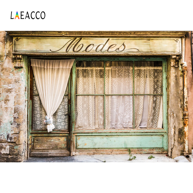 Laeacco Old Rural House Lace Curtain Window Porch Party Scenic Photo Backgrounds Photographic Backdrops For Photo Studio