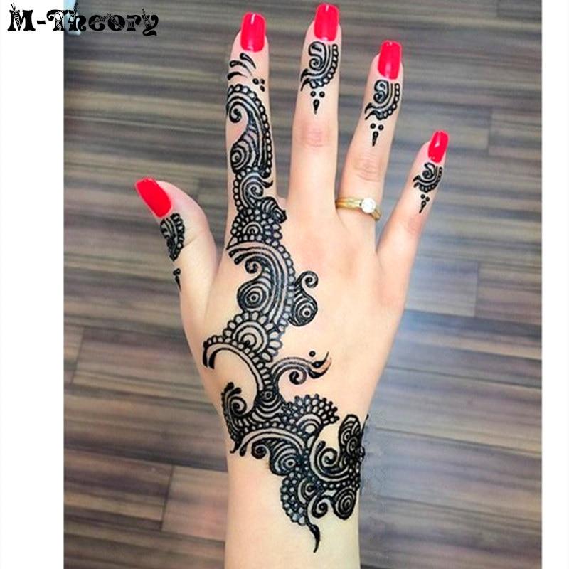 Women Fashion Mehndi Nails Henna Cone Indian Temporary Nail Art
