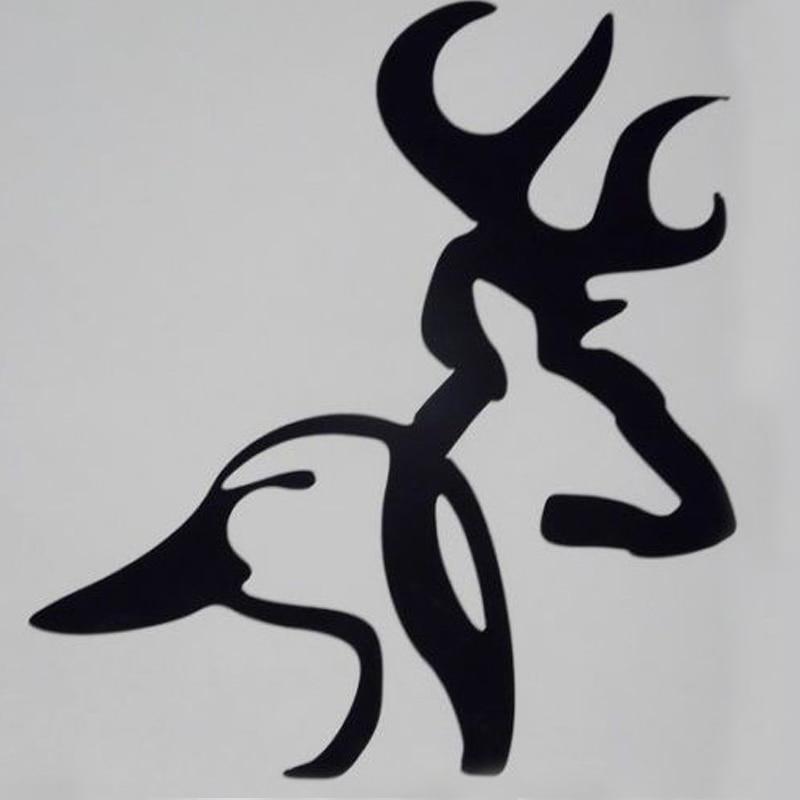 100 pcs lot wholesale browning duck deer head car truck window rh aliexpress com Browning Hunting Logos browning deer head logo