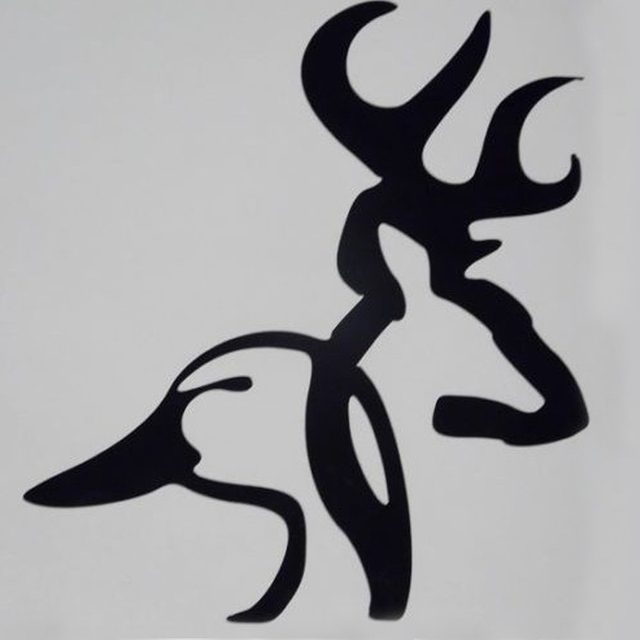 100 pcs lot wholesale browning duck deer head car truck window vinyl decal