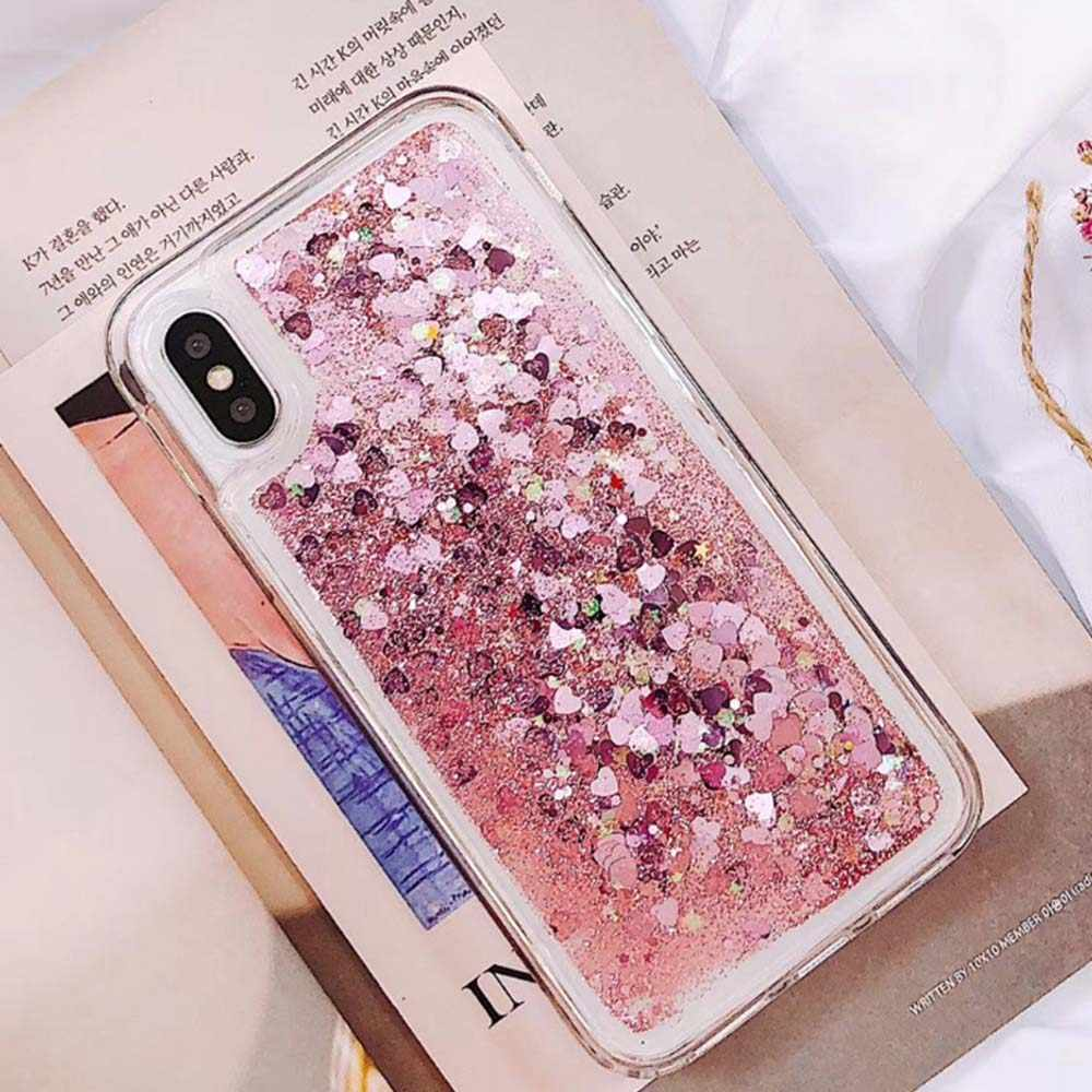 Amor corazón líquido brillo caja del teléfono para Huawei Nova 4 3 3i 2 amigo 20 P 10 Smart Plus 2019 p8 P9 Lite 2017 P30 P20 Pro