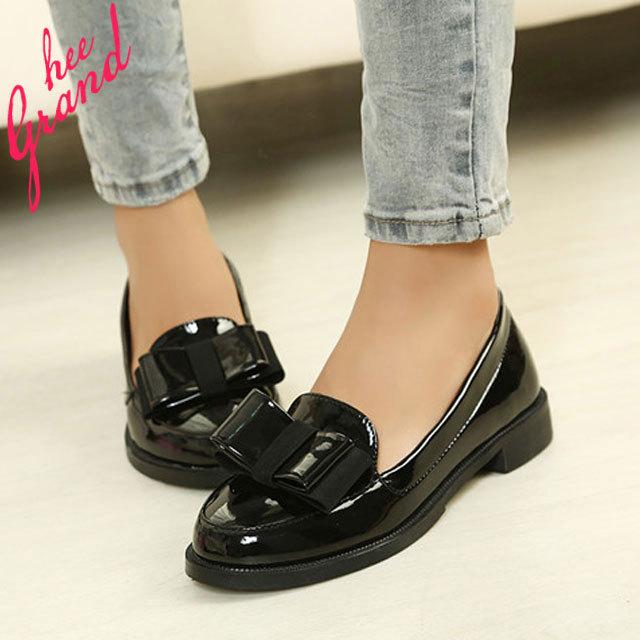 para mujer del de primavera ocasionales charol moda 2015 Pisos de nueva Sapatos mujeres negro planos mujer las rojo zapatos arco blanco cómoda Femininos en nxwYXxI8q