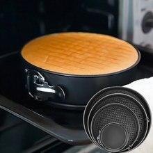 4pcs/set Cake Baking Pans Kitchen Tool Cake Mold Carbon Steel Round Baking Dish Removable Base Non-stick Bakeware