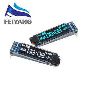 "Image 1 - 10pcs 0.91 inch OLED module  0.91"" white/blue OLED 128X32 OLED LCD LED Display Module 0.91"" IIC Communicate"