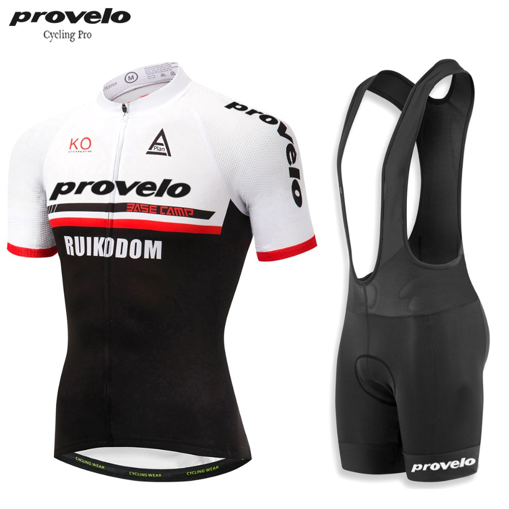 Provelo 2019 New Cycling Jersey Sets 8 Color Breathable Cycling Clothing MTB Bike Jerseys 9D Gel Padded Shorts Anti Uv maillot