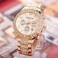 Watches Women Fashion Luxury Brand Ladies Gold Steel Quartz Watch Geneva Casual Crystal Rhinestone Wristwatches Relogio Feminino