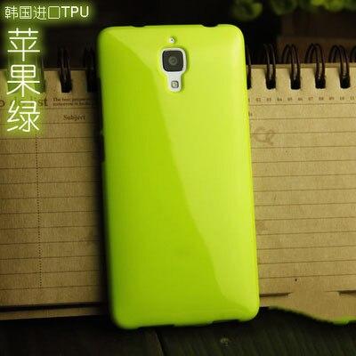 Xiaomi Mi 4 jelly Soft Silicone cover solid color TPU phone case for Xiaomi mi4 m4 5.0'
