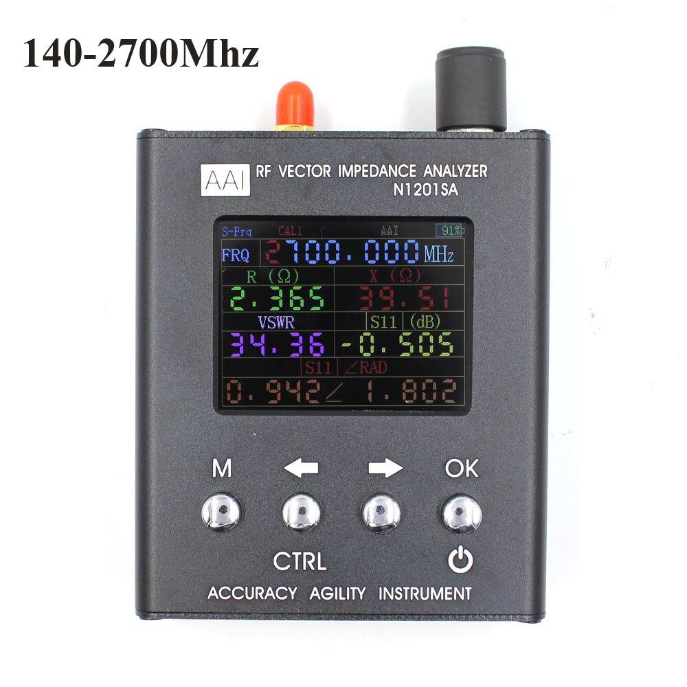 Inglês verison N1201SA UV RF Vector Impedância ANT Antena SWR Analyzer Tester Medidor de resistência de 140 MHz-2.7 GHz/ impedância/SWR