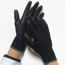 Work Gloves black Palm Coated working gloves Workplace Safety Supplies Safety Gloves PU518 5pair/lot cut-resistant anti-static