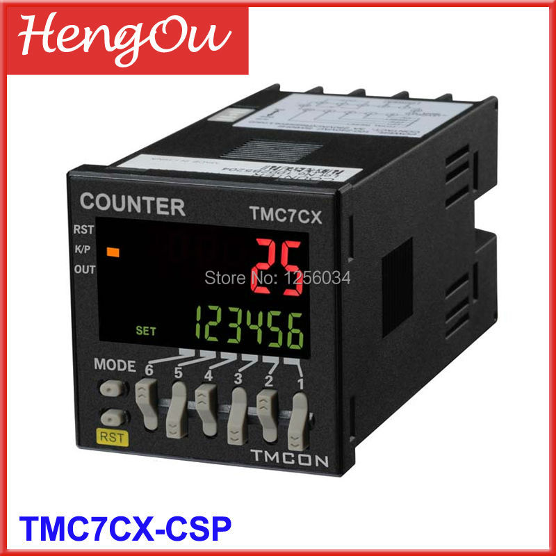 1 piece TMC7CX intelligent digital counter, 6 digits TMC7CX-CSP Preset counter, Electronic counter