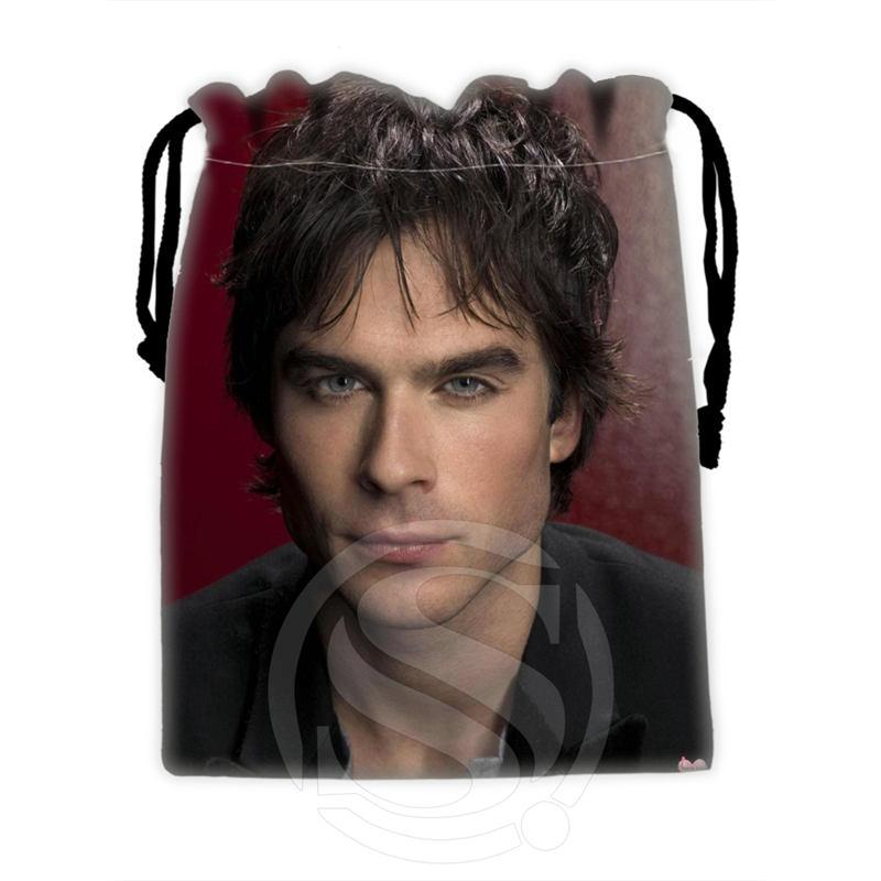H-P729 Custom Ian Somerhalder#3 Drawstring Bags For Mobile Phone Tablet PC Packaging Gift Bags18X22cm SQ00806#H0729