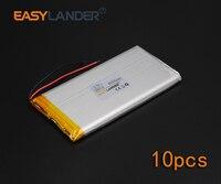 10pcs Lot 3 7V 6000mAh Rechargeable Li Polymer Li Ion Battery For Bluetooth Notebook E Book