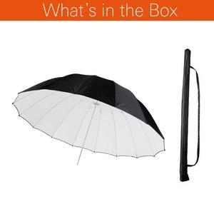 """Image 2 - GODOX Studio Photogrphy 60 """"150 cm czarny biały oświetlenie odblaskowe lekki parasol"""