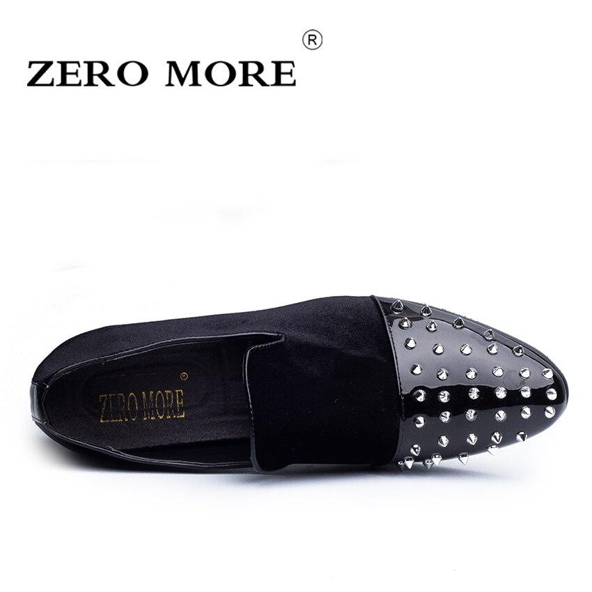 Mode Black Zéro Luxe Hommes Rivet Flock Les Conduite Chaussures Sur Microfibre Bout Glisser Mocassins Pointu Nouvelle Plus Casual wqSTEWxqC4