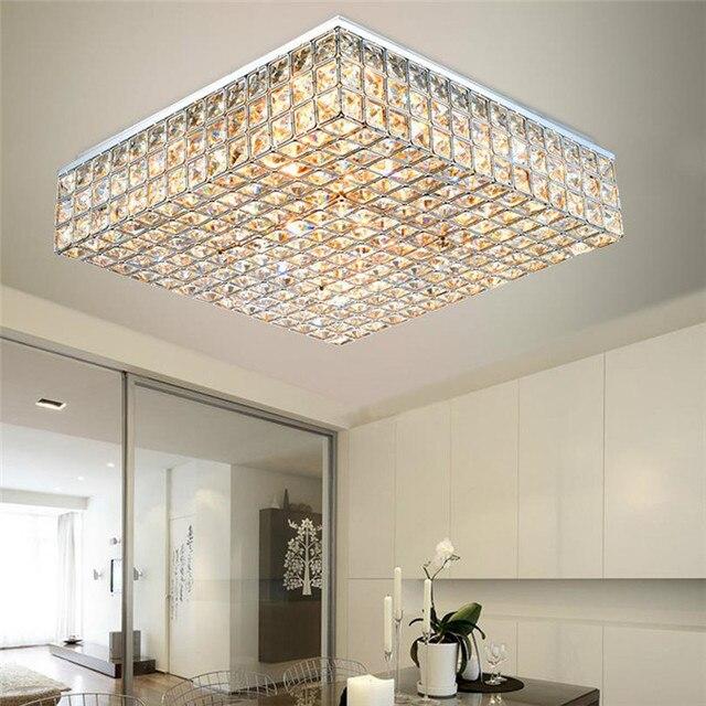 moderne kreative mode k9 kristall quadrat deckenaufbauleuchten wohnzimmer esszimmer schlafzimmer luminaria teto lampen - Moderne Kreative Esszimmer