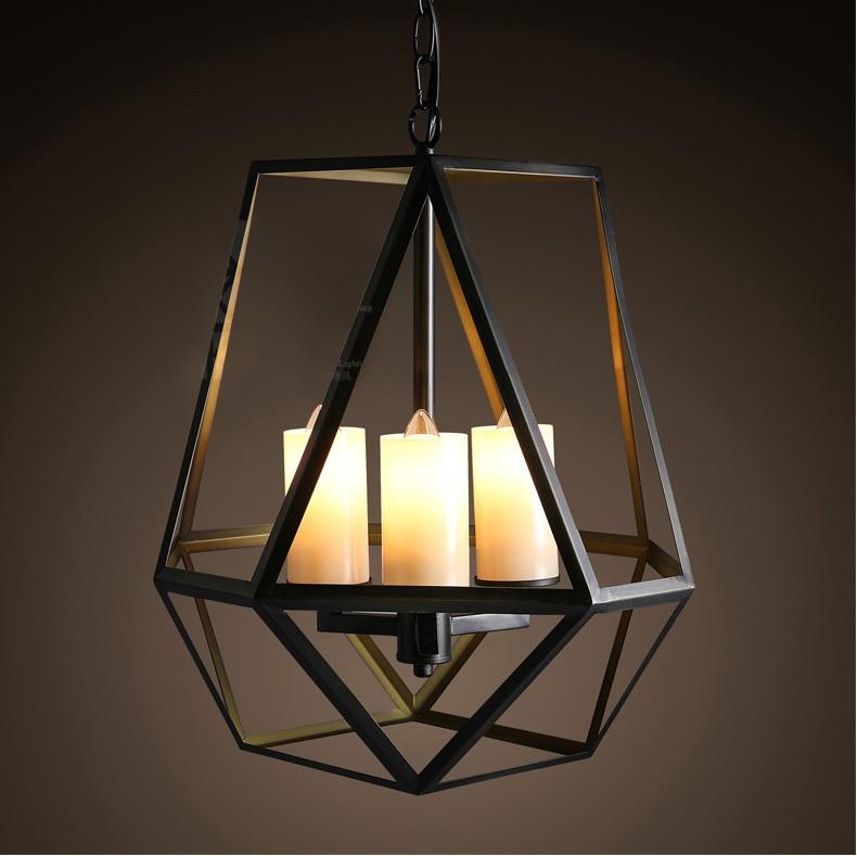 Loft Style American Rural Vintage Pendant Lamp Wrought