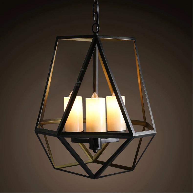 loft style american rural vintage pendant lamp wrought iron art deco lighting coffee shop candle pendant lighting