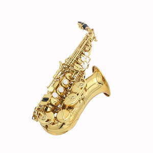Image 4 - LADE Brass Golden Carve Pattern Bb Bend Althorn Soprano Saxophone Sax Pearl White Shell Buttons Wind Instrument