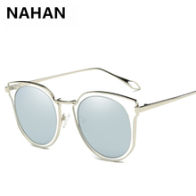 New Arrival Fashion Polarized Sunglasses Fashion 6 Colors Metal+PC Women Sun Glasses Brand Designer Round Sunglasses