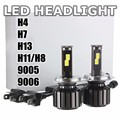 White 6000K H4 Hi/Lo Beam H13 Hi/Lo Beam H7 H11/H8 9005 9006 120W 10000LM COB LED Car Headlight Conversion Kit Light Lamp Bulbs