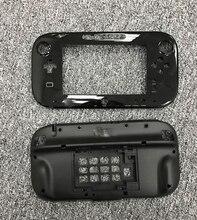 Original schwarz und weiß für wiiu gamepad gehäuse shell ohne batterie abdeckung ersatz