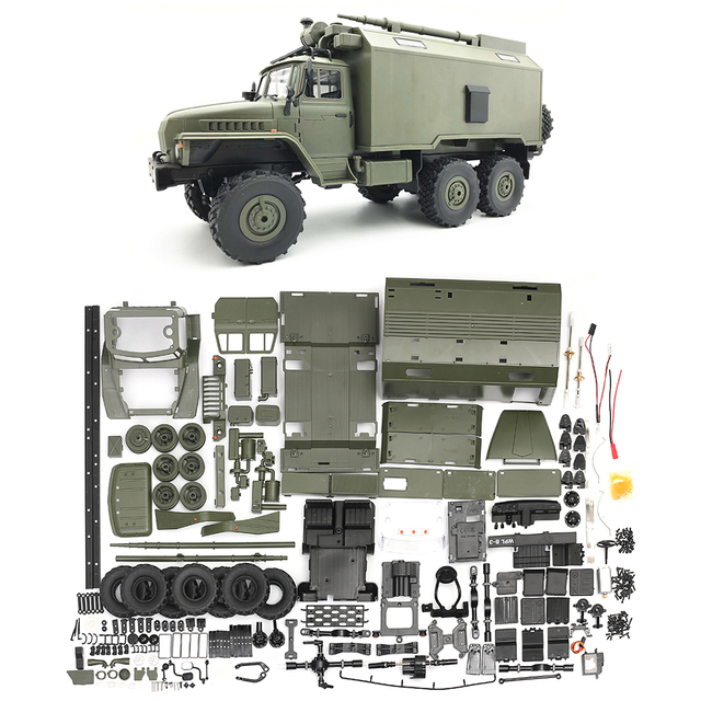 WPL B36 Ural 1/16 Kit 2.4G 6WD RC Car Kit Remote Control Toys RC Crawler Off-road Buggy Remote Car kids DIY toys for Christmas