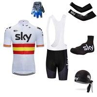 new 2018 5pc sky Men's Cycling Riding Gear Mountain Biking Clothing SKY Team Clothing Ropa Ciclismo Jerseys PRO Bike
