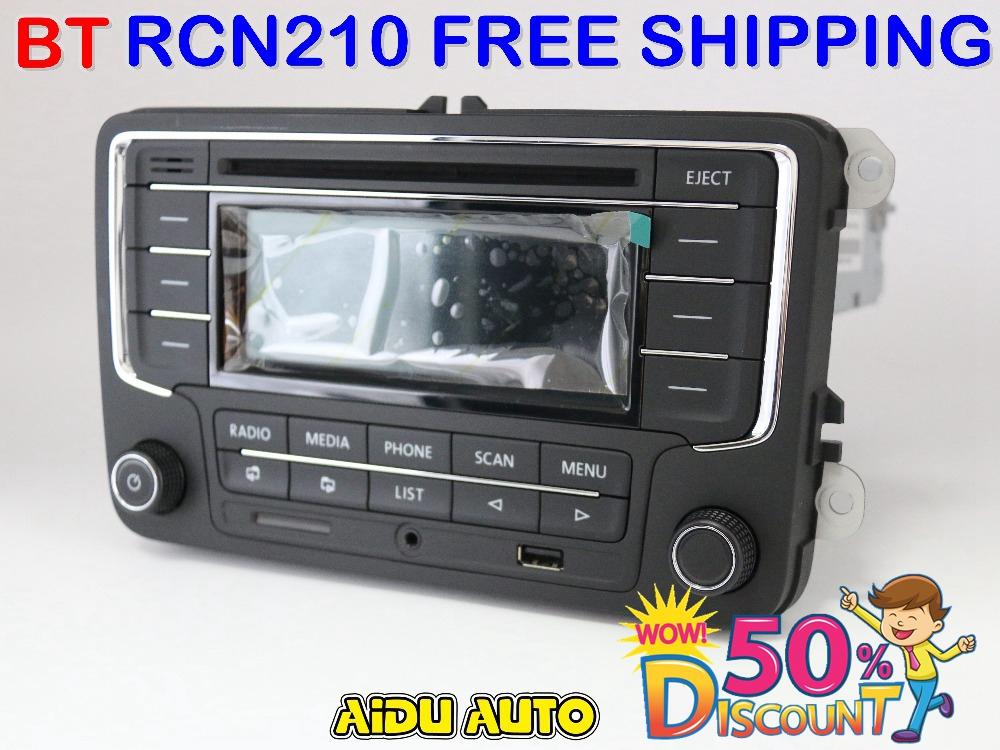 Prix pour UTILISÉ RCN210 Bluetooth MP3 USB Lecteur CD MP3 Radio POUR VW Golf 5 6 Jetta Mk5 MK6 Passat B6 CC B7