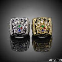 Selling Exquisite Alloy Rings 2005 Pittsburgh Steelers Football Championship Ring US Size 12 Free Shipping