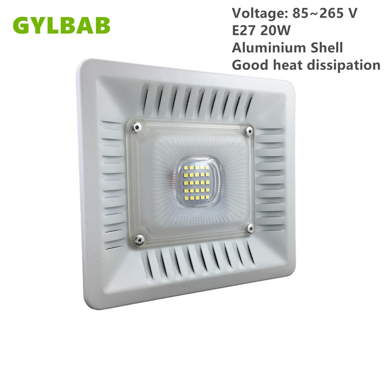 Gylbab AC 110v 220v E27 20w 25leds 30w 36leds Led Bulb With Shade Floodlight Aluminum Shell Lamp Panel Kitchen Toilet Cover