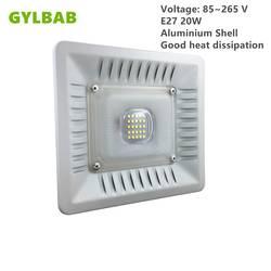 Gylbab AC 110 V 220 V e27 20 w 25 светодио дный s 30 w 36 светодио дный s светодио дный лампа с абажуром прожектор алюминиевый корпус лампы Панель кухня