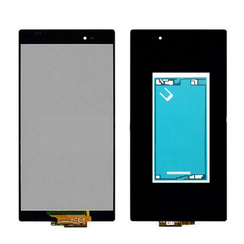adhesive Sticker For Sony Xperia Z Ultra XL39h XL39 C6833 C6802 LCD Display + Touch Screen Digitizer Assembly Free Shipping  lcd display touch screen digitizer for sony xperia z ultra xl39h xl39 c6802 c6806