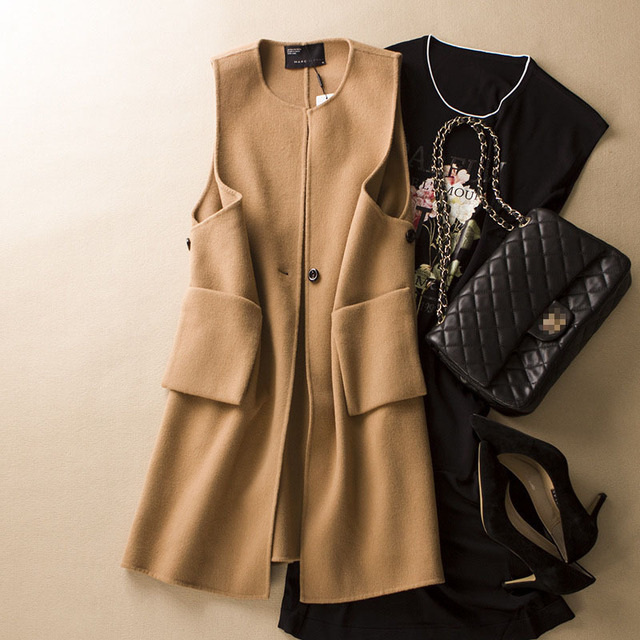 Aliexpress.com : Buy Women Coat Khaki Wool Coat 80% Wool 20 ...