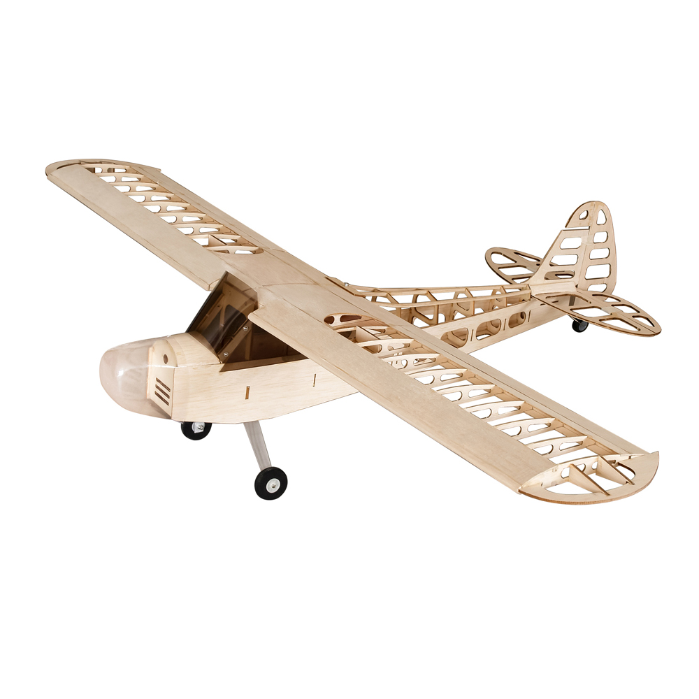 DIY Flying Model S0801 Balsa Wood RC Airplane 1.2M Piper Cub J-3 Remote Control Aircraft KIT Version RC Toys For Teenager