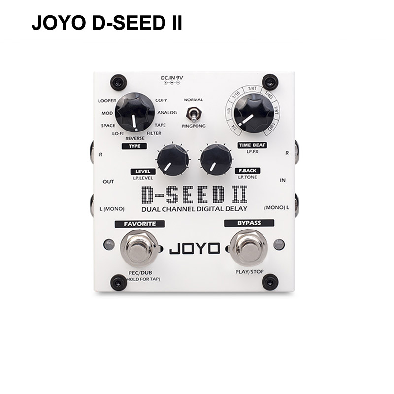 JOYO D-SEED Delay Guitar Effect Pedal delay effects guitarra stompbox Dual Channel Digital Delay True Bypass free shippingJOYO D-SEED Delay Guitar Effect Pedal delay effects guitarra stompbox Dual Channel Digital Delay True Bypass free shipping