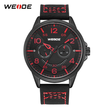 WEIDE Luxury Brand Analog Digital Watches Men Lether Male Clock Men Military Wristwatch Quartz Sports Watch Reloj Hombre 2018