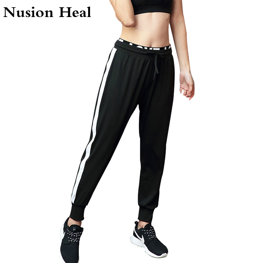 NUSION HEAL Women Yoga Compression Pants Mesh Leggings Pants Elastic Tights Sexy Yoga Capri with Pocket for Workout Gym Jogging