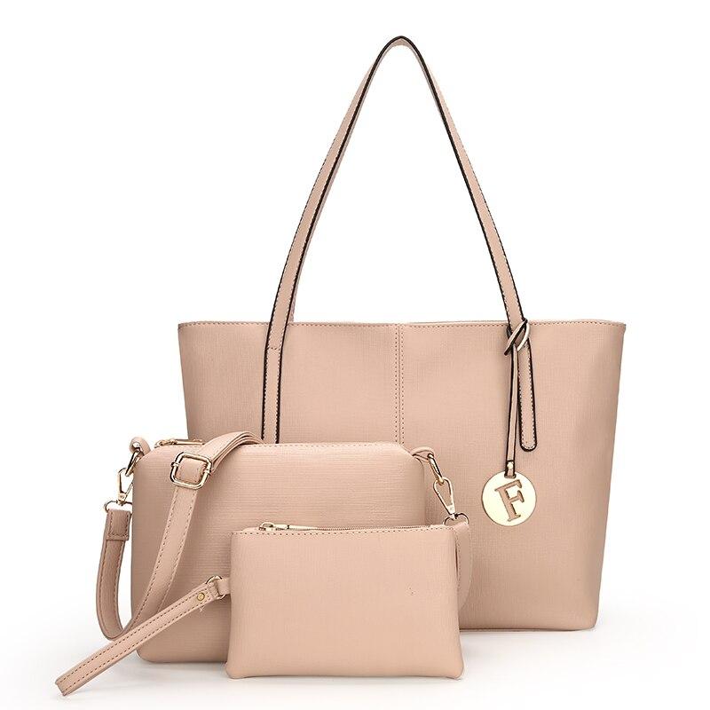 3 PCS Women Composite Bag Set Luxury Handbags Women Leather Tote Bags Ladies Hand Bags For Women Messenger Shoulder Bag Sac