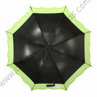 3 قطعة/الوحدة خيار اللون الصيف المشمسة مظلة للطي مصغرة 5 مرات أسود طلاء anti الفاكهة الخضراء طبقتان الرباط المظلة