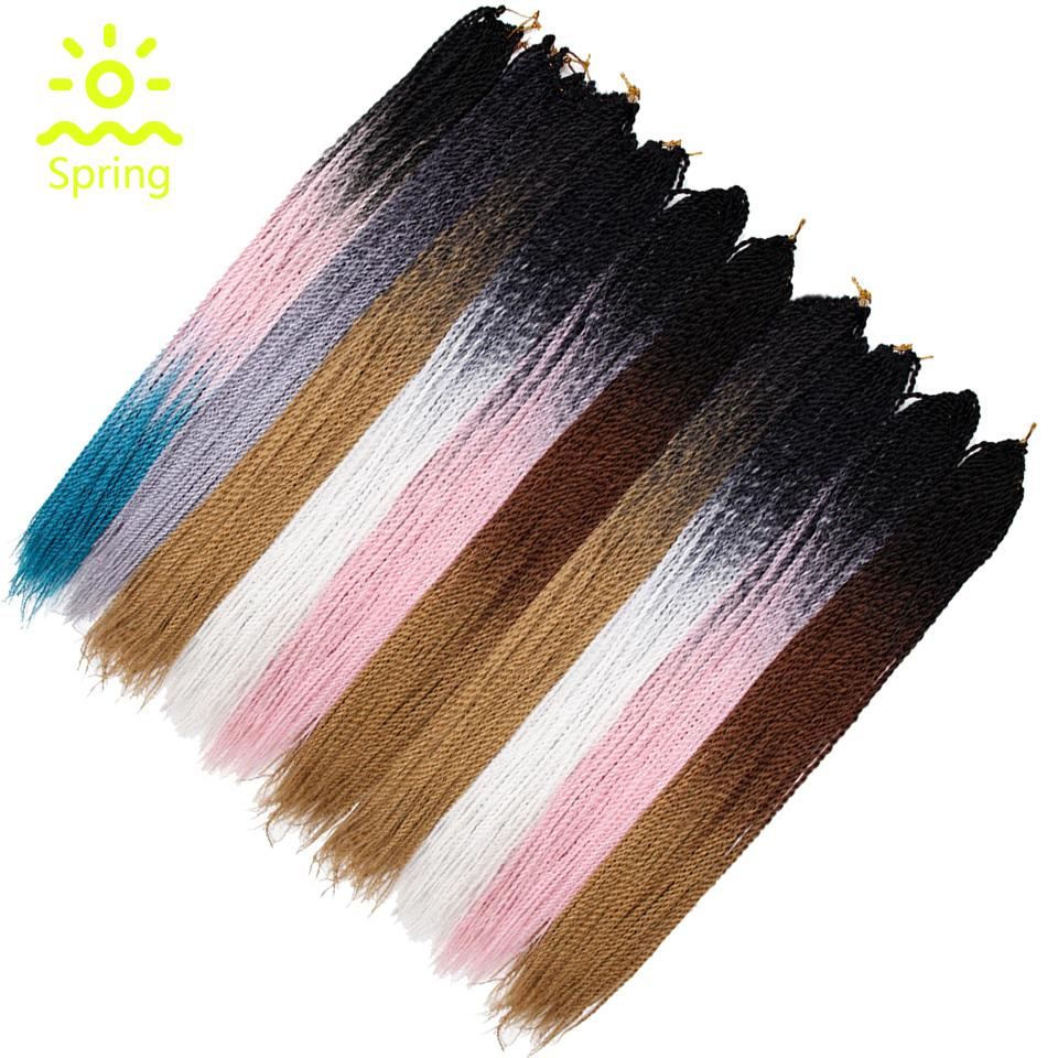 Hair Extensions & Wigs Frank Yxcherishair Silky Jumbo Braid Hair Extensions 24 100g Ombre Kanekalon Crochet Jumbo Braiding Hair Black Purple Blue