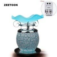 220V Glass Dimming Electric Plug Perfume Diffuser Aromatherapy Furnace Powder Incense Essential Oil lamp Aroma Burner SPA Decor
