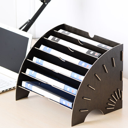 Us 69 61 22 Off Creative Desktop File Holder Document Storage Box Decorative Office Desk Organizer Wood Office Desk Sets In Desk Set From Office