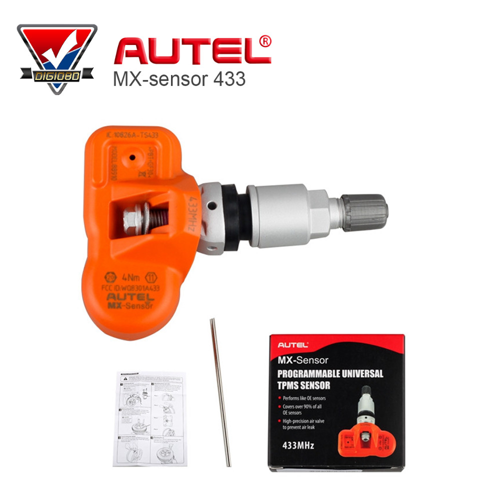 Original Autel MX Sensor 433MHZ Programmable Universal font b TPMS b font Sensor Support Programing With