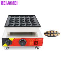 BEIJAMEI Heart Snack Dutch Poffertjes Maker Heart Shaped Party Pancake Grill Waffle Machine 25 holes Heart Cake Machine