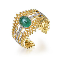 TBJ,2019 new natural emerald rings 925 silver polychromatic elements fashion fine jewelry for woman Wedding or birthday gift