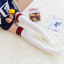 6cce53a4883 Women Cute Striped Boots Compression Coral Fleece Stockings Ladies Over Knee  Socks Long Women s Sock Body