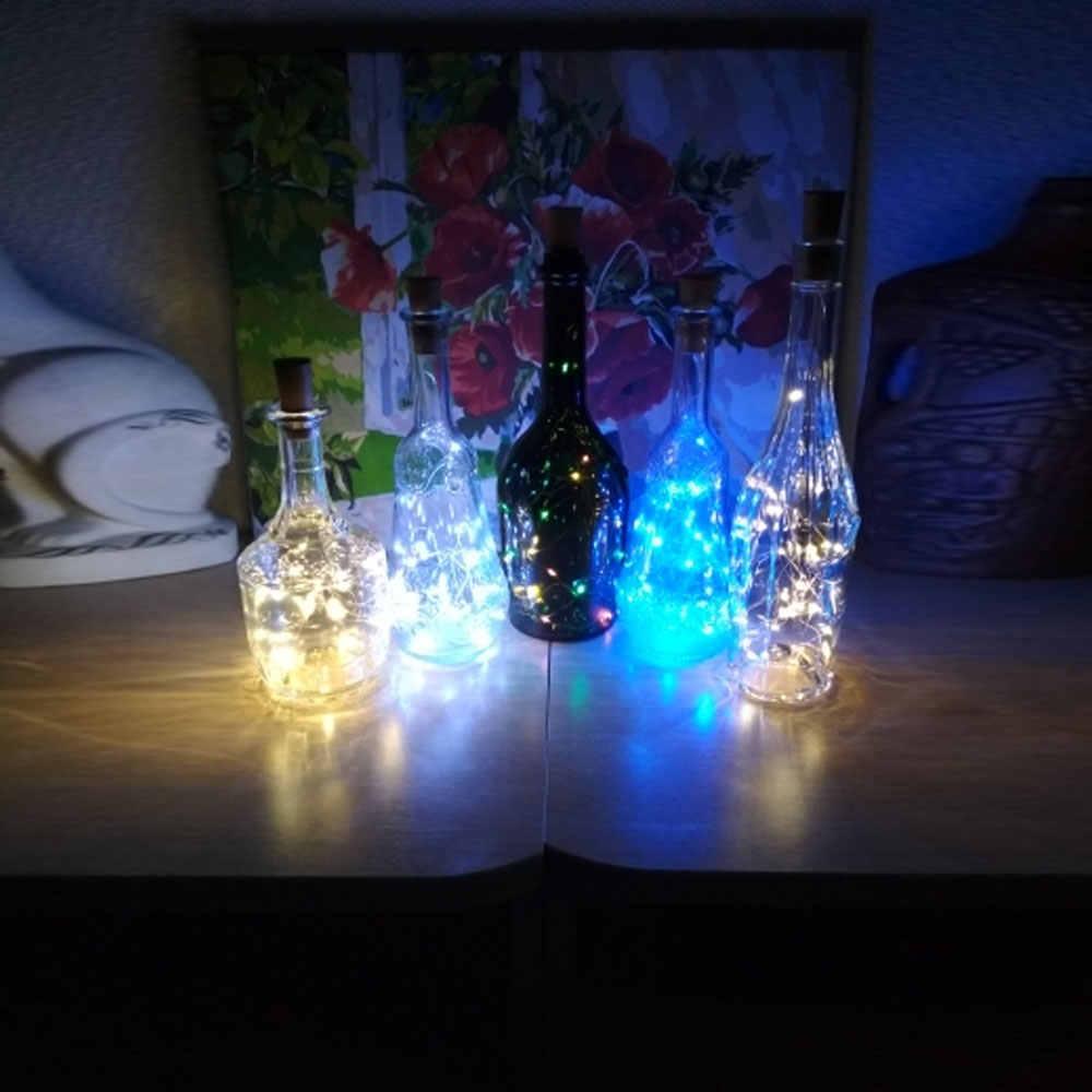 1 м 2 м 3 м 10 20 30 светодиодный s серебряная проволока Волшебная гирлянда пробка для бутылки для стеклянного ремесла светодиодный гирлянда для украшения Рождественского праздника