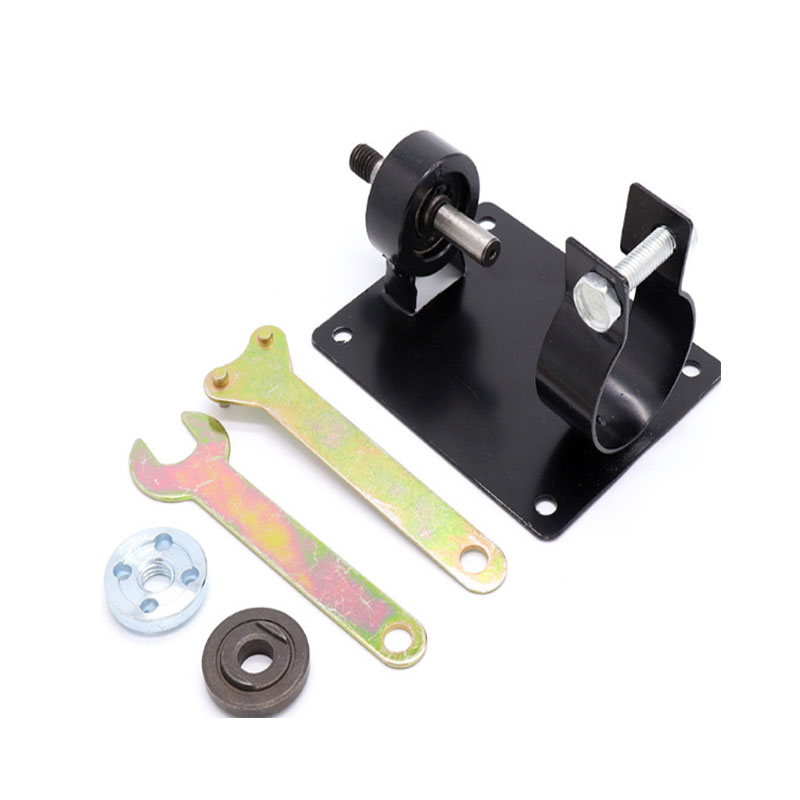 NEW Electric Drill Cutting Polishing Grinding Seat Stand 10/13mm Holder Set Machine Bracket Rod Bar +2 Wrenchs +2 Gaskets Metal hoomall electric drill cutting seat stand machine bracket tools set fit for angle grinder accessories polishing cutting 10 13mm