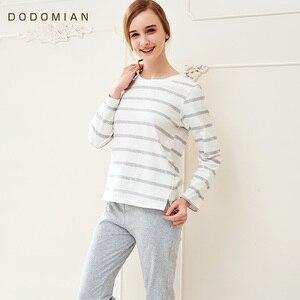 Image 3 - Couple Pajama Cotton Striped  O neck Sleepwear Lover Home Clothes Plus Size L 3XL High Quality Men+Women Underwear 1 Set