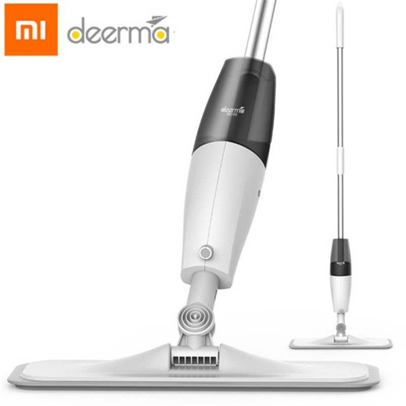 Original Xiaomi Deerma Water Spraying Sweeper Mijia Floor Cleaner Carbon Fiber Dust Mops 360 Rotating Rod 350ml Tank Waxing Mop(China)